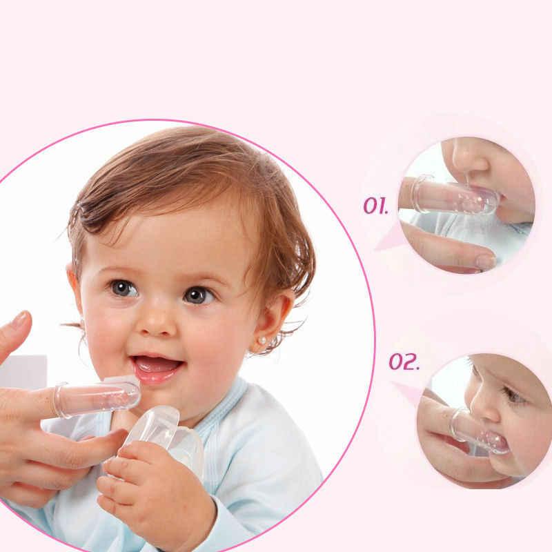 Nuevo 2019 Venta caliente cepillo de dientes de silicona para bebés cepillo de dientes + caja de dientes para niños cepillo de dientes suave de silicona sólida para bebés