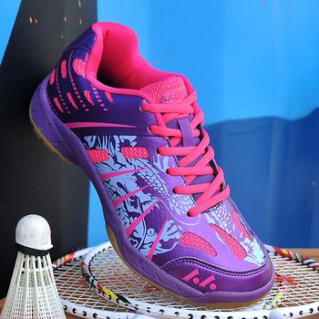 Porfessional damskie buty do badmintona oddychające tenisówki damskie trampki do badmintona lekkie tenisówki nowość tanie i dobre opinie Worldsion Spring2019 Pasuje prawda na wymiar weź swój normalny rozmiar Lace-up Pcv podłogi Profesjonalne Krowa mięśni