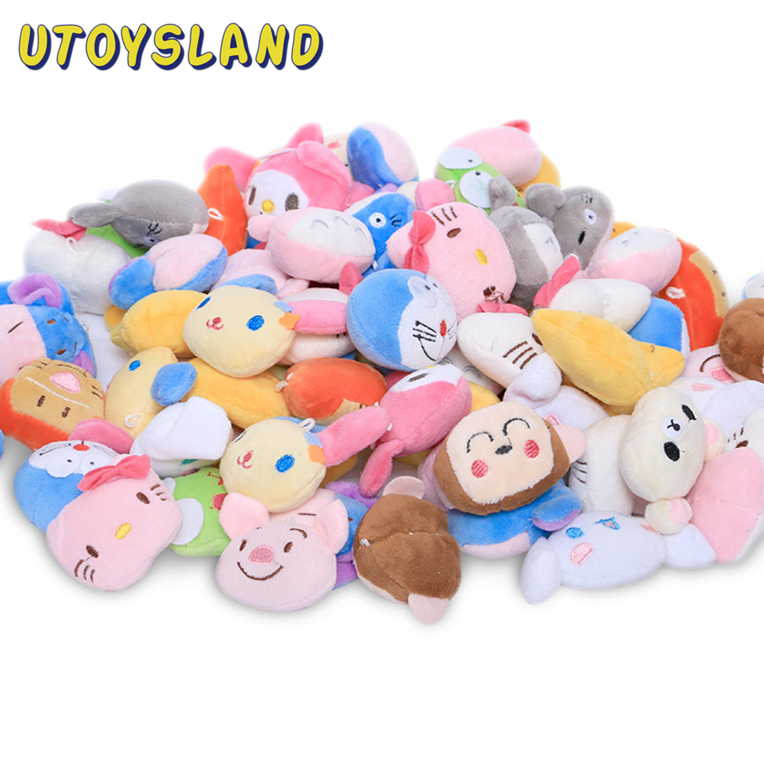 6Pcs Children Pretend Play Toy Mini Cute Plush Doll Stuffed Toys For Toy Claw Machine Soft Baby Kids Toys For Children Girl Boys