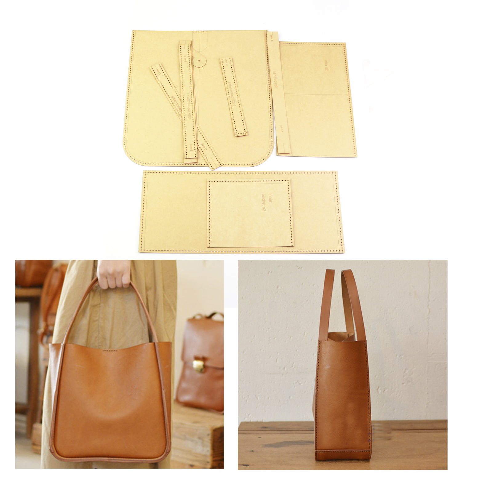 Сделай Сам кожа Крафт Женская сумка ведро крафт-бумага высечка шаблон выдолбленный трафарет 24x23x12cm