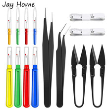 6Pcs Sewing Seam Ripper Kit Thread Remover Sewing Tools & Yarn Thread Cutter & Soft Tape Measure & Tweezers For Sewing and Craft