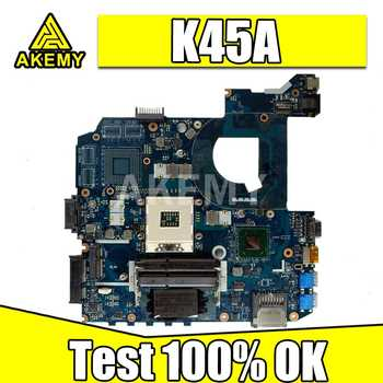 K45A motherboard QCL40 LA-8221P motherboard For Asus K45VD A45V K45VM K45VS A85V Laptop motherboard K45A mainboard GMA HD4000 - DISCOUNT ITEM  8 OFF Computer & Office