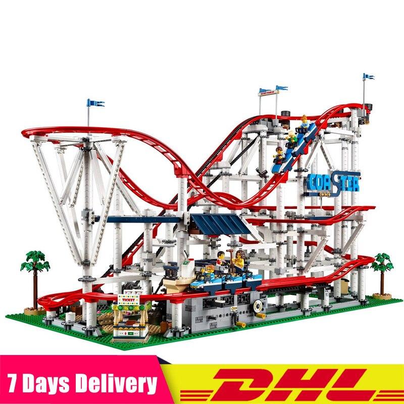 DHL 4619Pcs Roller Coaster Set Buidling Blocks Bricks New Kids Toys Toy Gift Model Compatible Legoinglys 15039 10261