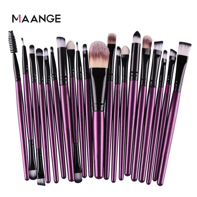 MAANGE 6/15/20 Pcs Makeup Brush Set Eyeshadow Blending Foundation Powder Eyebrow Blush Double Head Brush Beauty Make Up Kit Tool 3