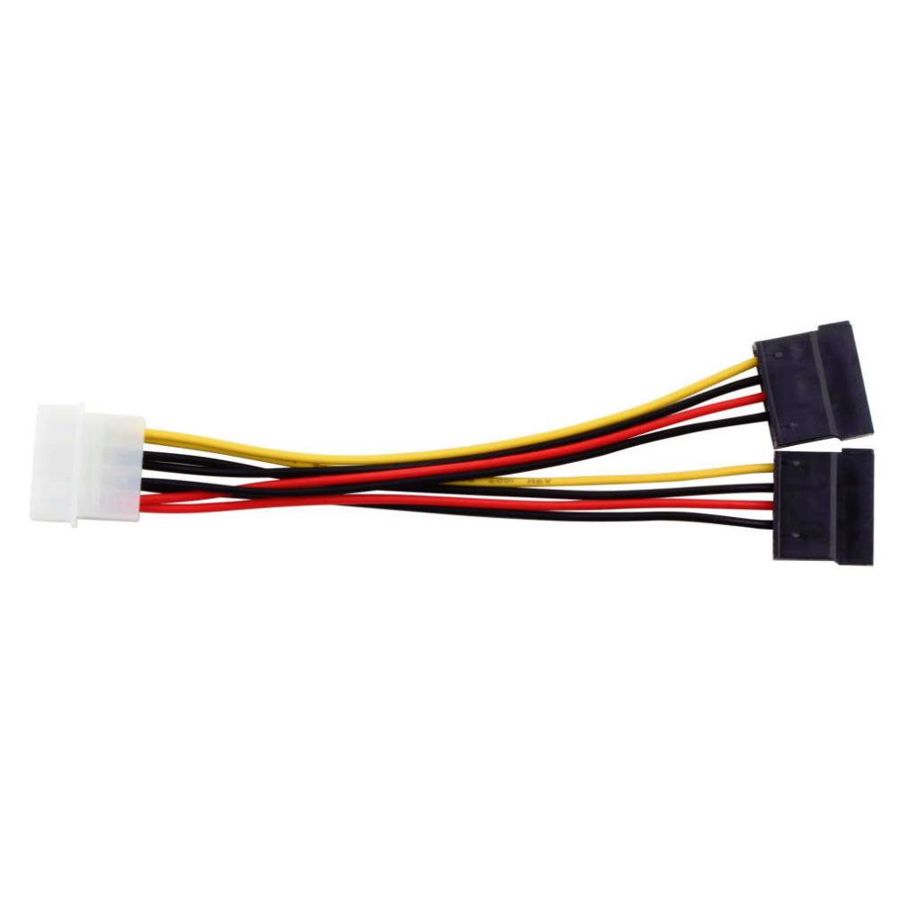 4Pin IDE Molex To 15Pin Serial ATA SATA Power Adapter Cable  Y Splitter Hard Drive Power Supply Cable Hot Worldwide