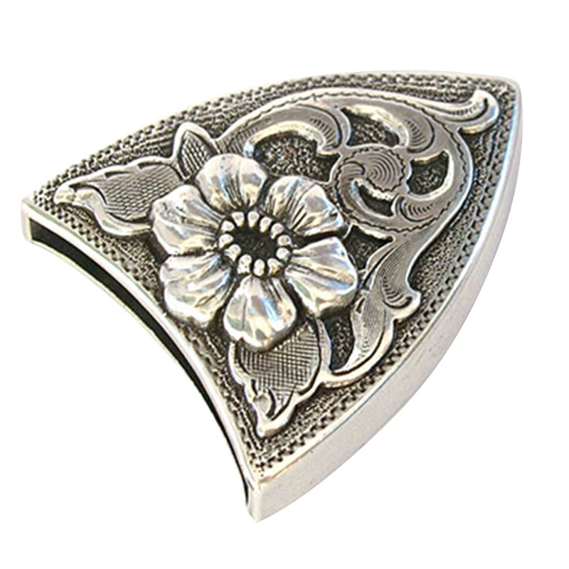 Western Retro Floral Engraved Antique Belt Buckle Set 3pcs Fits 38mm Belt Decor FDC99
