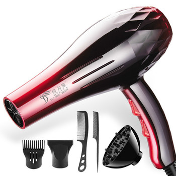 With EU Plug 2200W Hot And Cold Wind Hair Dryer Blow Dryer Hairdryer Styling Tools For Salons & Household Use secador de cabelo