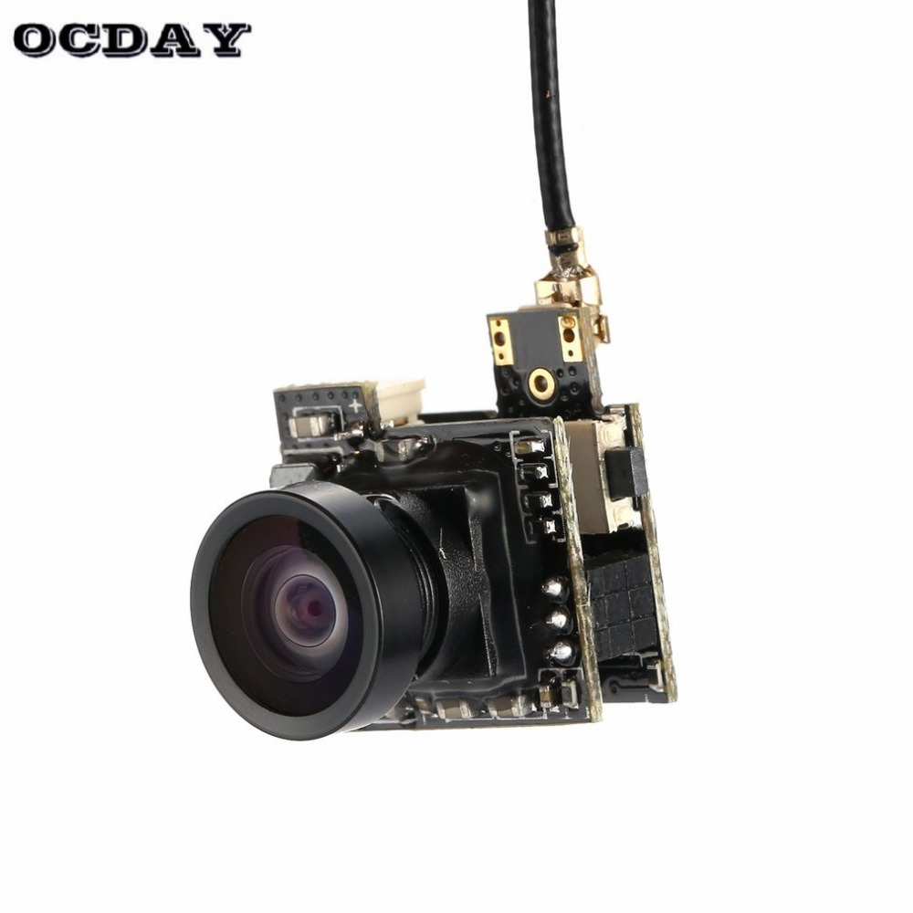 2019 LST-S2 AIO 800TVL CMOS Mini FPV Camera CAM RC Toy Parts Accessories with 5.8G 40CH 25mW Whip Antenna for RC Racing Drone ht