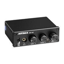 AIYIMA 오디오 디코더 광섬유 동축 USB 디코더베이스 고음 조정 DAC 홈 사운드 시어터 용 헤드폰 앰프 포함