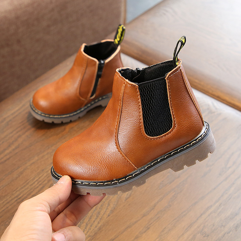 Children Boots Boys Shoes New Style Children's Cotton Shoes Boy's Martin Boots Leisure British Girls' Boots Baby Boy Shoes
