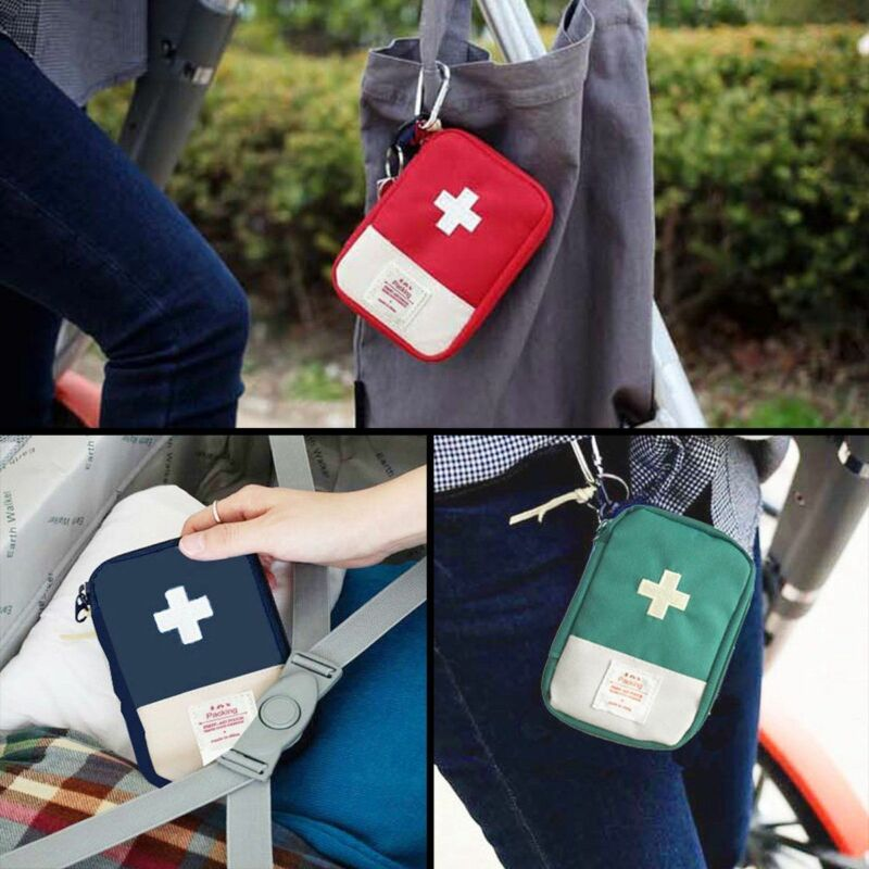 Mini Emergency Survival First Aid Kit Medical Kit Pack Travel Sports First-aid Packet Bag Case Pouch