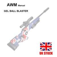 AWM Gel Ball Blaster Manual Gel Soil Water Crystal Beads Toy Blaster 1:1 Sniper Toy Gun Model Great for Cosplay Prop