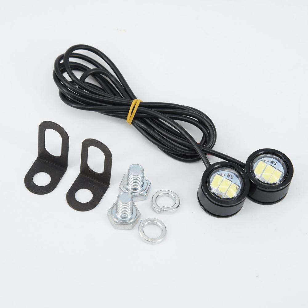 Image 2 - 2pcs 12V Motorcycle LED Spotlight Headlight Driving Front Light Fog Lamp Set 21.5*20*47mm Motorcycle LED Lights Accessories-in Electromobile from Automobiles & Motorcycles
