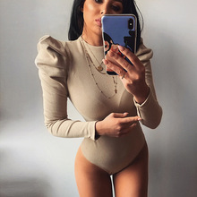 2020 Spring Women Sexy Bodysuit Winter Fashion Casual Bodycon Solid Knitted