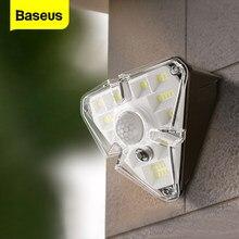 Baseus-luz Solar LED para exteriores, lámpara Solar con Sensor de movimiento PIR para jardín, impermeable, energía Solar para pared, calle, para el hogar