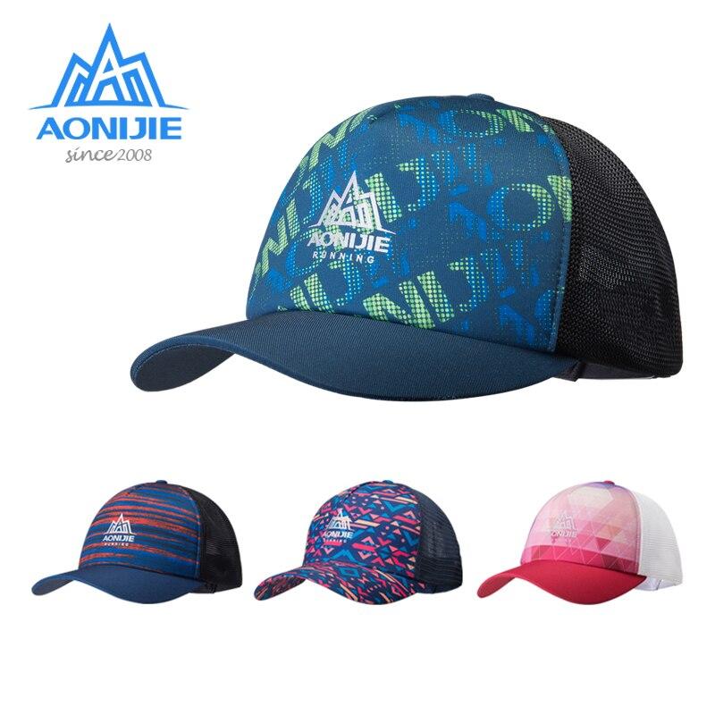 AONIJIE E4106 Men's Women's Sports Adjustable Sun Visor Baseball Cap Trucker Hat Mesh Back For Running Hiking Marathon Trail