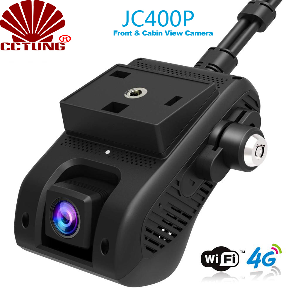 JC400P 4G Smart AiVision Dashcam With Front & Cabin Dual 1080P Live Video Monitoring GPS Tracking & SOS Alarm To Cloud Recording