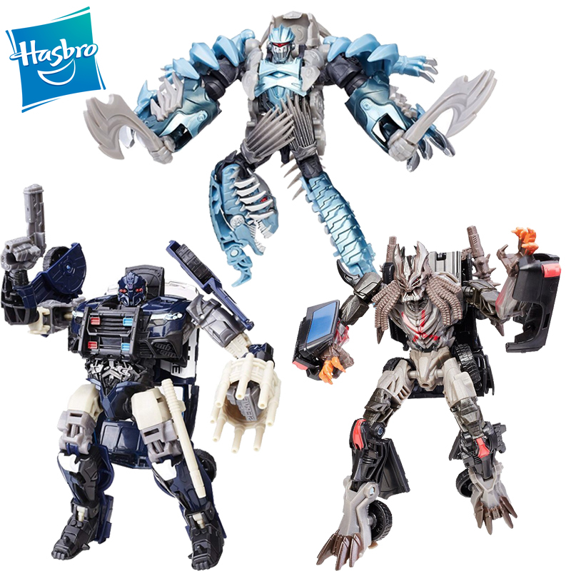 Hasbro Transformers Movie 5 The Last Knight Premier Edition Deluxe Class Dinobot Slash Barricade Decepticon Berserker Toy image