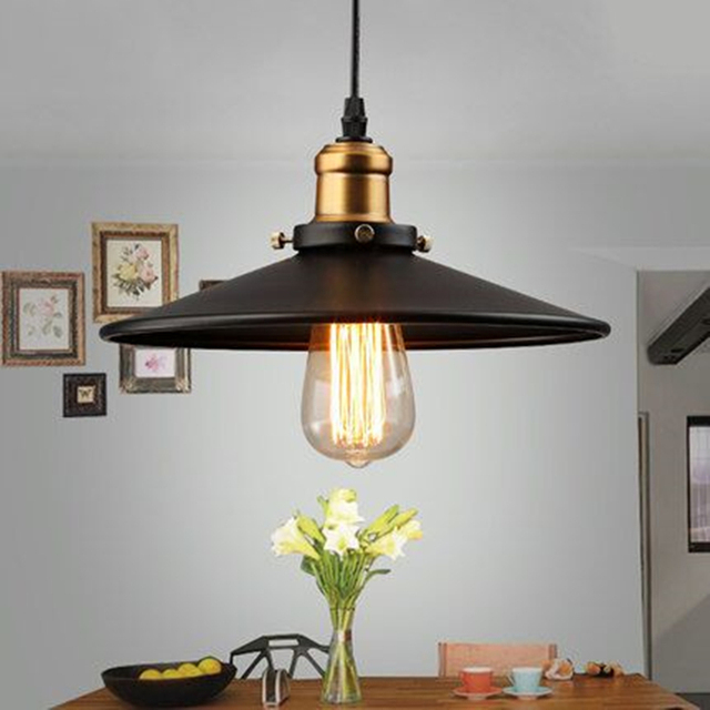 decoration salon Edison Loft Style Vintage Industrial Retro Pendant Lamp Light e27 Holder Iron Restaurant Bar Counter Bookstore 1
