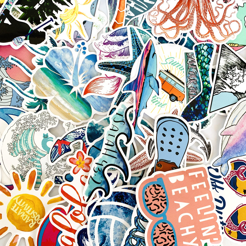 Tropical Surf Sticker Pack (50 count) 5
