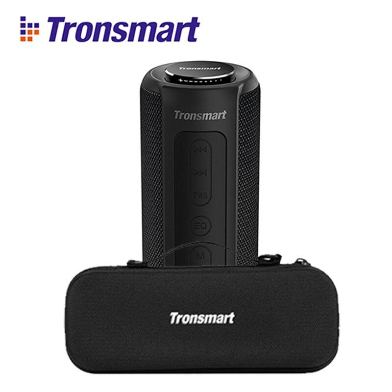 Original NOVA Tronsmart Elemento T6 Plus IPX6 40W TWS SD TF Bluetooth Speaker Portátil À Prova D' Água ao ar livre portátil mini Speaker t6