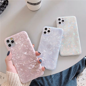 Glitter Dream Shell Pattern Case For iPhone 12 11 11Pro Max XR XS Max X 8 7 6S Plus Soft IMD Silicone Cover For iPhone 11 12 Pro