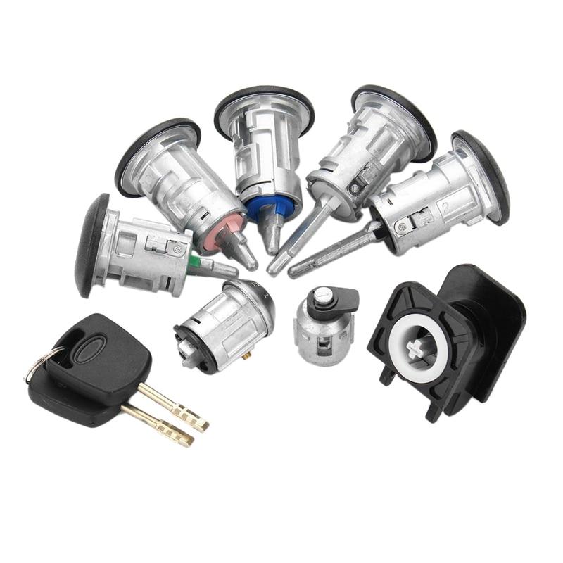 8Pcs Car Barrel Door Locks Keys Set 4425134 For FORD TRANSIT Connect 2002-2007