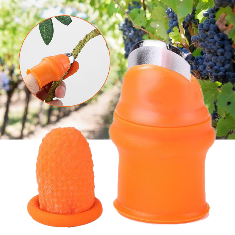 1pc Silicone Thumb Cutter Long/Short Finger Cutter Vegetables Fruit Picker Separator Finger Tool Hand Cutting Tool For Garden