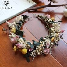 CC flor corona Tiara diademas Vintage flor bosque estilo 100% hecho a mano boda accesorios para el cabello para novia chicas Seaside mq060