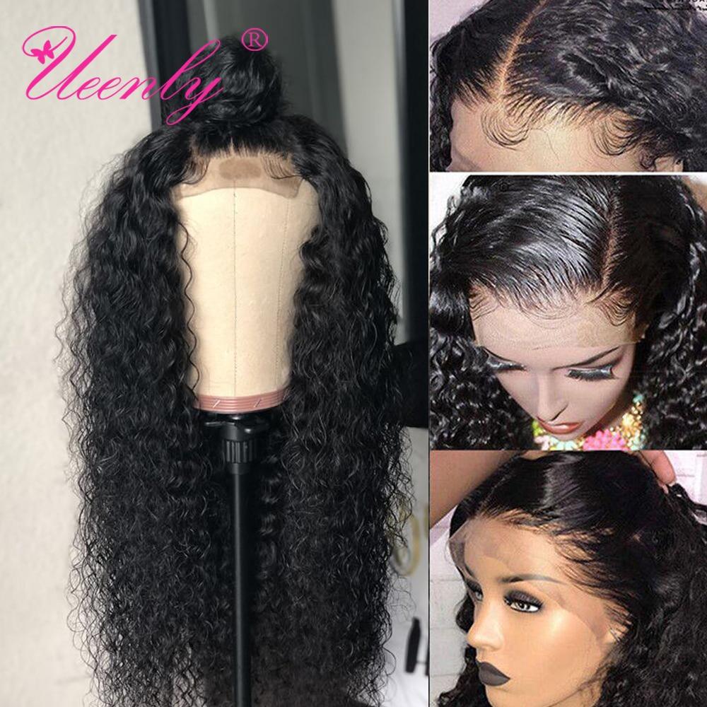 Парик с застежкой, 4x4, 5x5, 6x6, бразильские вьющиеся волнистые передние парики из человеческих волос, предварительно выщипанные Детские волосы...