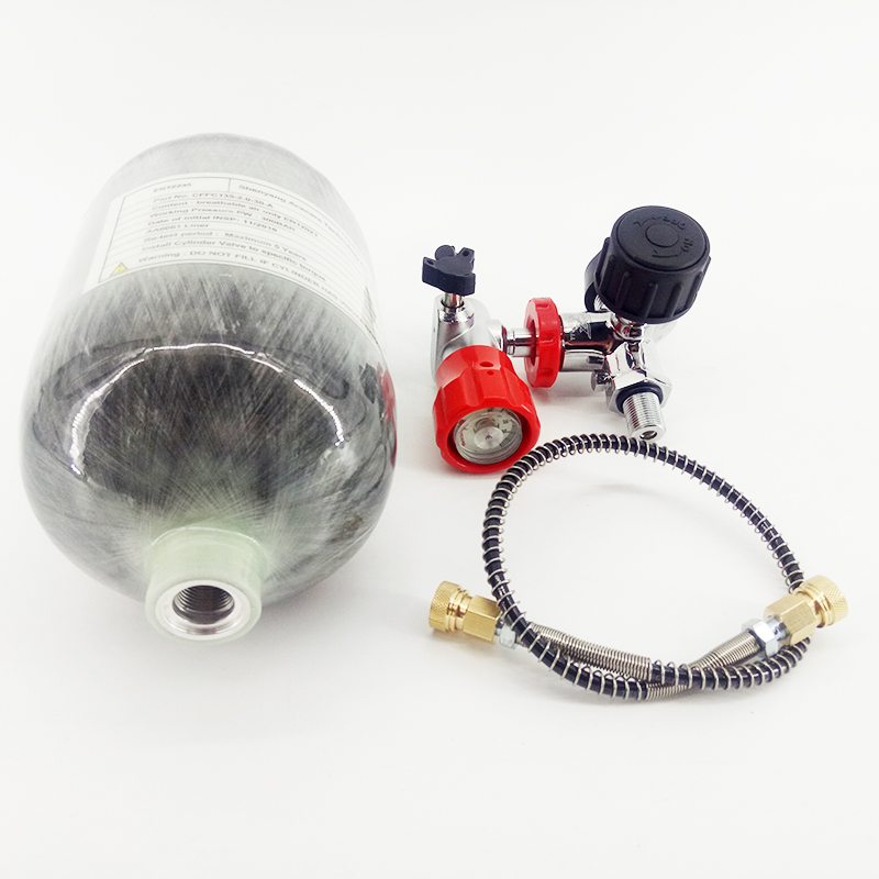AC52061 2L CE 300Bar Paintball PCP Mini Scuba Tank Carbon Fiber Cylinder For Pcp Regulator AirGun Airforce Condor Pcp Air Rifle