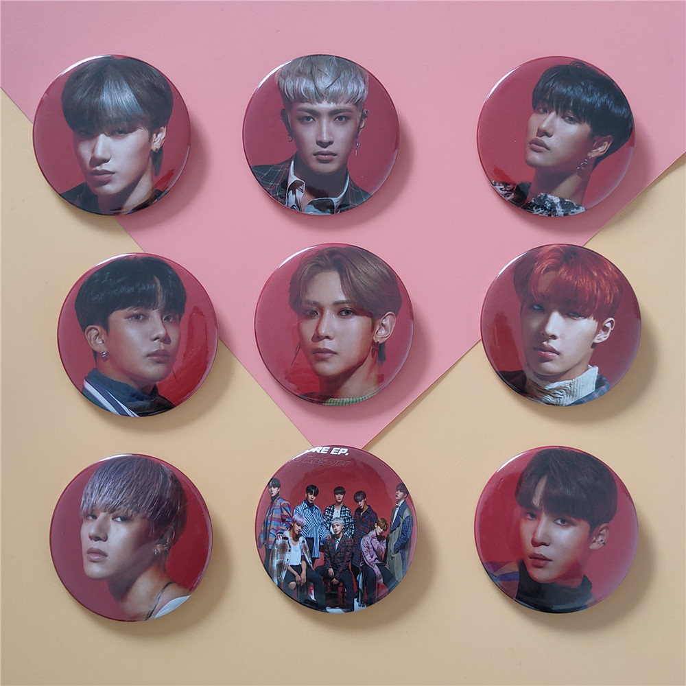 1pcs Kpop ATEEZ Badge TREASURE EP.MAP To Answer Photo Album Brooch Accessories Kpop ATEEZ New Arrivals