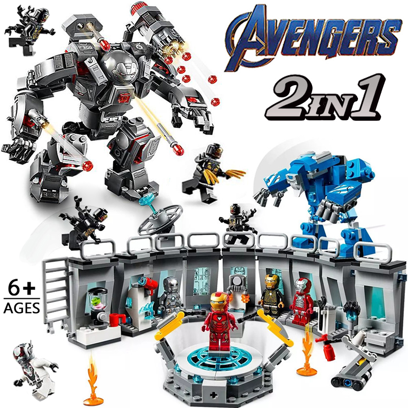 Super Heroes Iron Man Marvel Avengers Endgame Hall Of Armour Compatible With  Kids Toys Figures Building Blocks Bricks