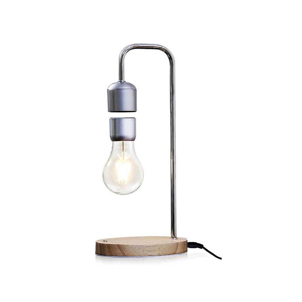 Lévitation magnétique ampoule bureau Grain de bois lampe flottante cadeau Unique lampe flottante magnétique lampe de Table flottante
