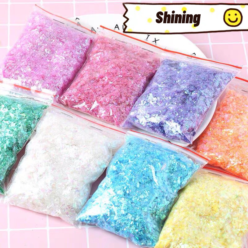 Big Bag Shiny Slime Sequins Filler For Slime Beads Glitter Slime Supplies Phone Case Decorations Lizun Accessories Toys For Kids