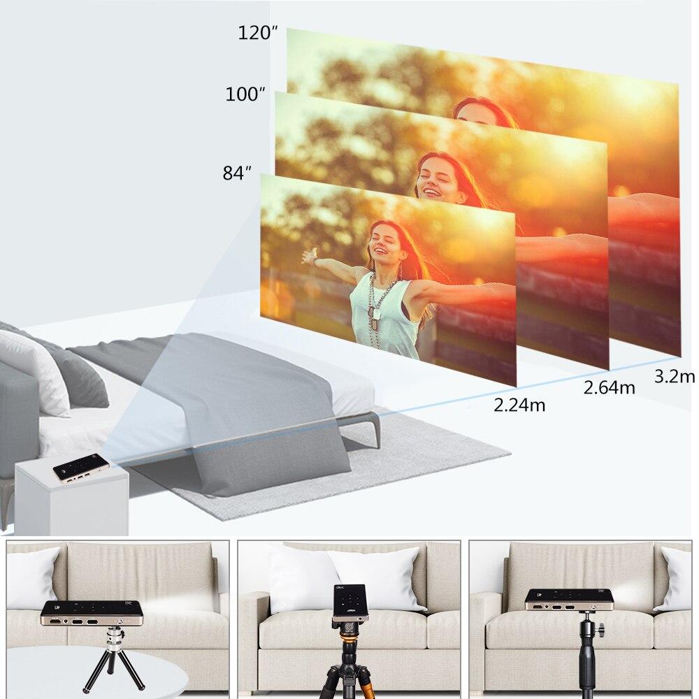 Vivicine prend en charge le Mini projecteur 4 K, batterie 4000 mAh, prend en charge le projecteur vidéo de projecteur Mobile portable Miracast Airplay - 6