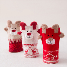 DIHOPE  Women Christmas Socks Deer Pattern Winter Cute Warm Animal Cartoon Design Medium Korean Style 2019 Hot sale