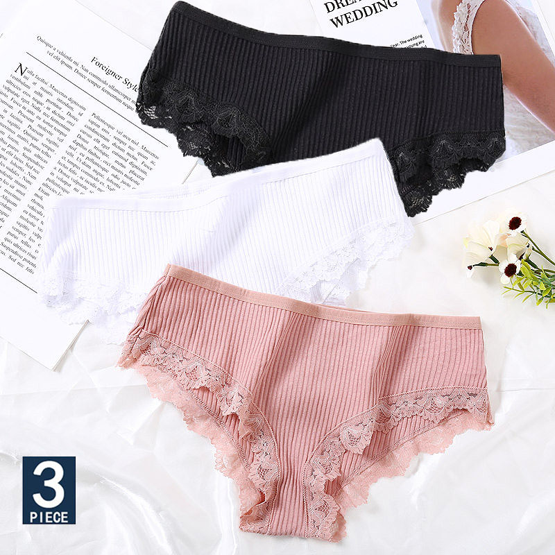 Lace Panties For Women Cotton Underwear Sexy Panties Female Woman Cotton Briefs Fashion Pantys Lingerie Underpants Femme