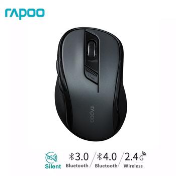 Bezprzewodowa mysz bezprzewodowa Rapoo M500G multi-mode z łatwym przełączaniem 1600DPI Bluetooth i 2 4GHz do 3 urządzeń łączy się z komputerem tanie i dobre opinie CN (pochodzenie) Bezprzewodowa na Bluetooth Optoelektroniczne Mini Dla palców Baterii M500G M500 Prawo