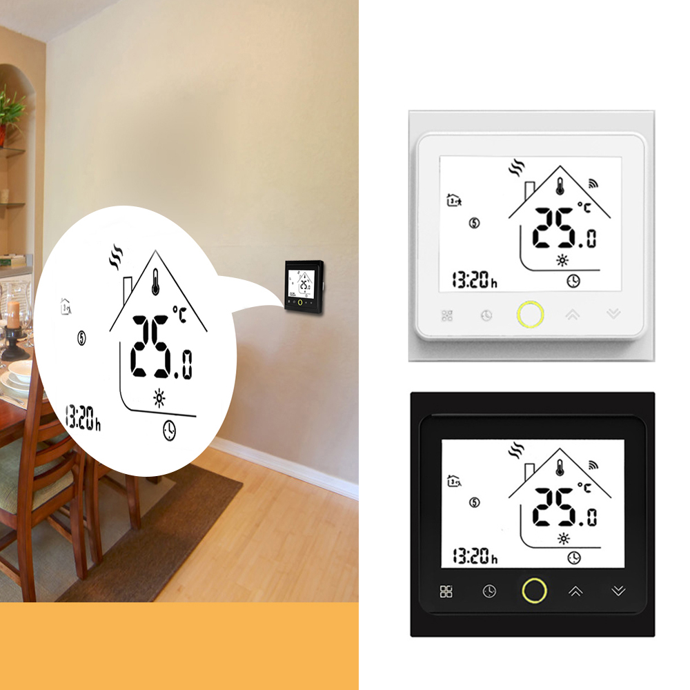 Smart Thermostat Temperature Controller For Water/Electric Floor Heating Water/Gas Boiler Works With Alexa Google Home