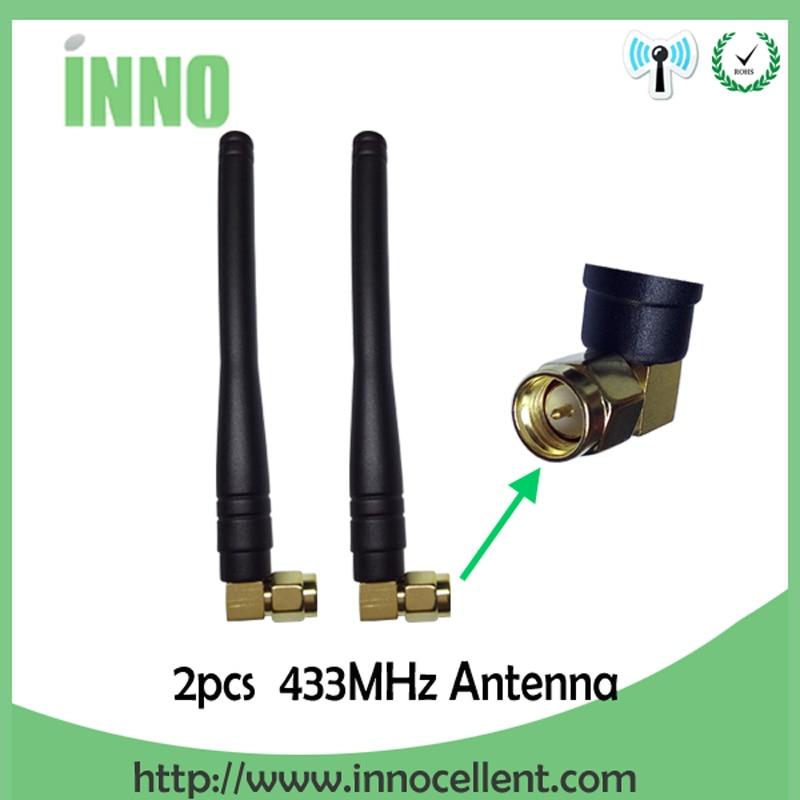 2pcs 433MHz Antenna 3dBi SMA Male Connector Antenne 433 Mhz Waterproof 433m Antena Wireless Lorawan Antennas Watermeter