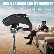 V8S USB alimenté Bluetooth écouteurs avec crochet d'oreille affaires sans fil mains libres casque avec micro pour l'utilisation du conducteur de voiture
