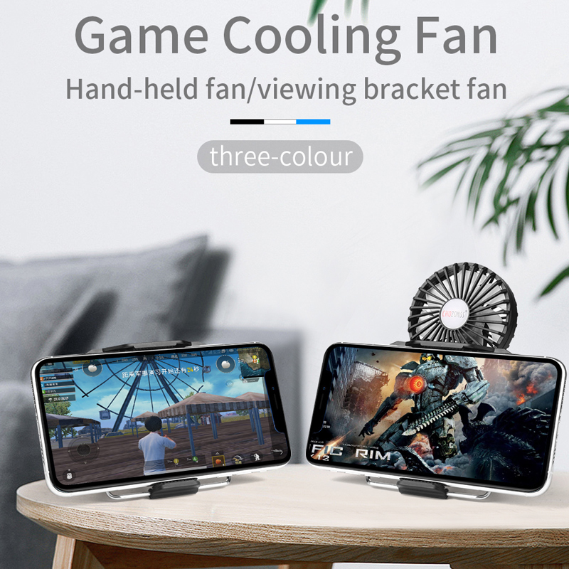 2 in 1 Multi-Function Mobile Phone Cooler Holder Portable Game Handheld Cooling Fan Phone Radiator For PUBG Controller image