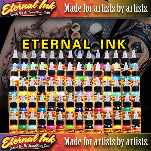 $ US $27.48 16Pcs Body Paint Eternal Tattoo Ink Set Permanent Makeup Coloring pigment Eyebrows Eyeliner  Tattoo Paint Body Makeup Ink Tools