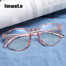 Imwete Classic Transparent Round Glasses Frame Women Clear Lens Myopia Glasses Men Vintage Eyeglasses Optical Spectacle Frames-in Men's Eyewear Frames from Apparel Accessories on AliExpress