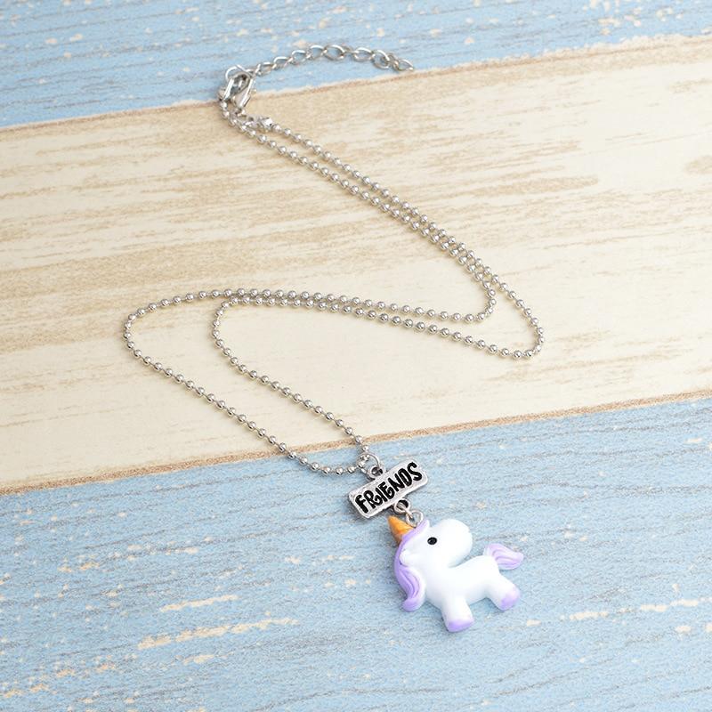 2018 New Style Children's Day Good Friend Unicorn Necklace Pendant Best Friend Necklace