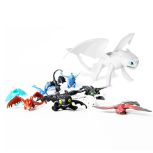 13pcs Dragon 3 Toothless Cartoon PVC Figures Action Figure Toys Kids Collection Ornaments Xmas Gift