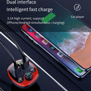Car MP3 Player Multi-purpose Universal Bluetooth Car Charger With LED Screen Dual USB Car Cigarette Lighter High Speed USB2.0 image