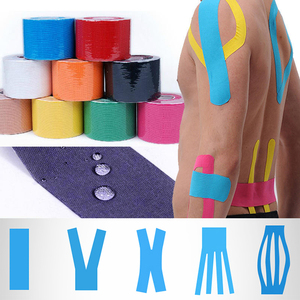 Kinesiology Tape Muscle Bandage 15 Colour Sports Cotton Elastic Adhesive Strain Injury High Speed Tape Knee Muscle Pain Relief(China)