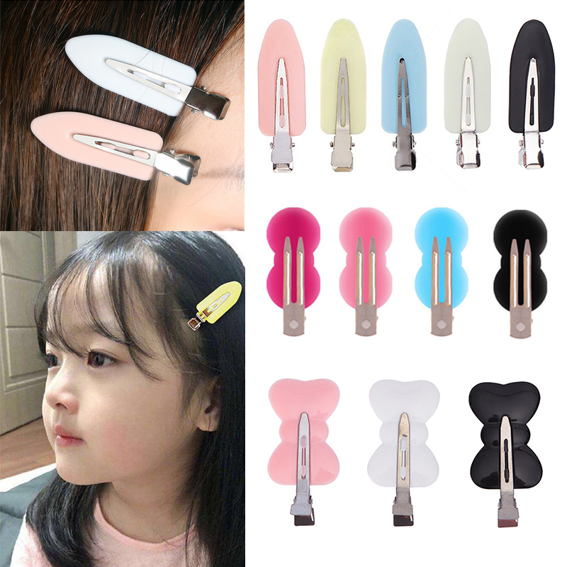 2/3/4Pcs No Bend Seamless Hair Clips Side Bangs Fix Fringe Barrette Makeup Washing Face Accessories Styling Hairpins